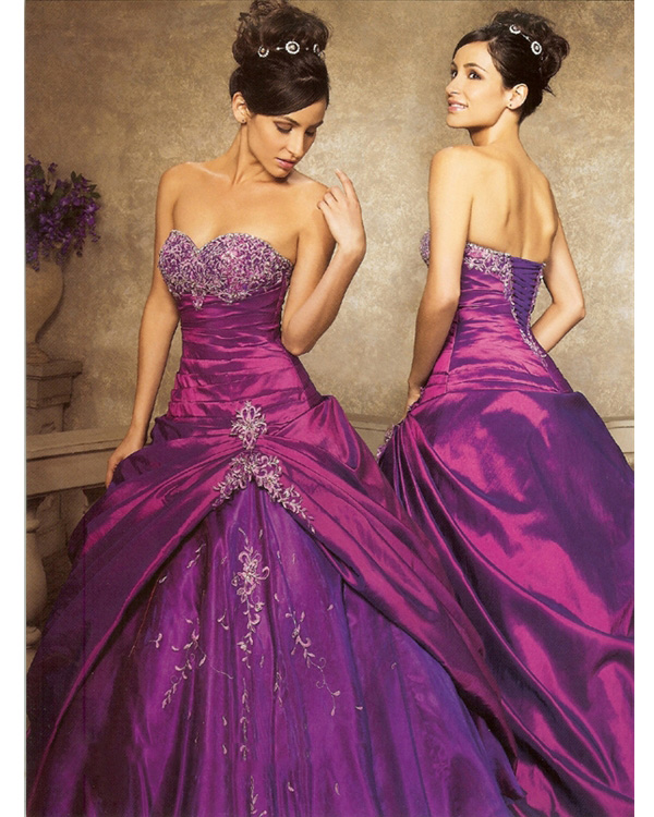 Prosperous Fuchsia Strapless Sweetheart Floor Length Ball Gown Quinceanera Dresses With White Embroidery