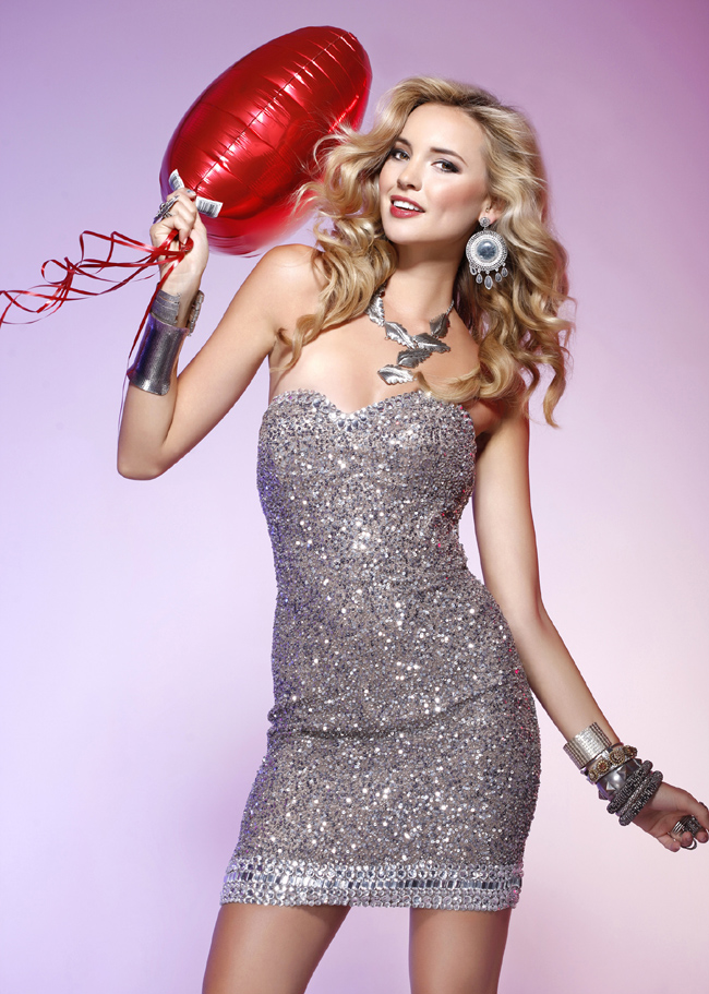 Best Selling Strapless Sweetheart Sheath Short Prom Dresses With Sequins