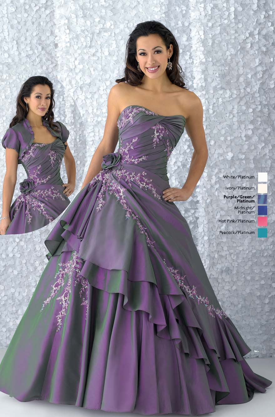 Grape Ball Gown Strapless Lace Up Floor Length Quinceanera Dresses With Embroidery And Flowers And Ruffles