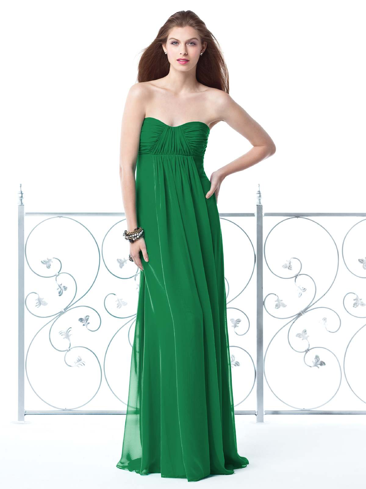 Green Empire Sweetheart And Strapless Zipper Floor Length Pleated Chiffon Prom Dresses