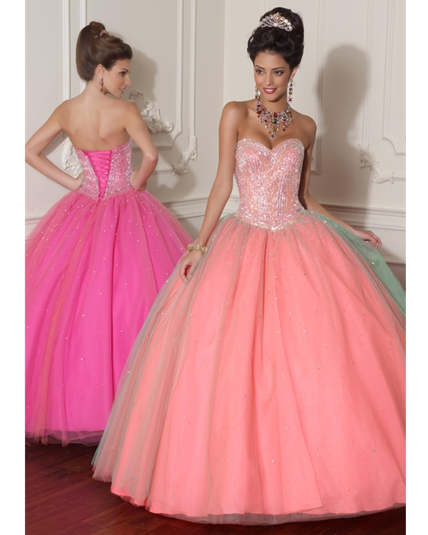 Pink Ball Gown Strapless Sweetheart Lace Up Floor Length Quinceanera Dresses With Sequins
