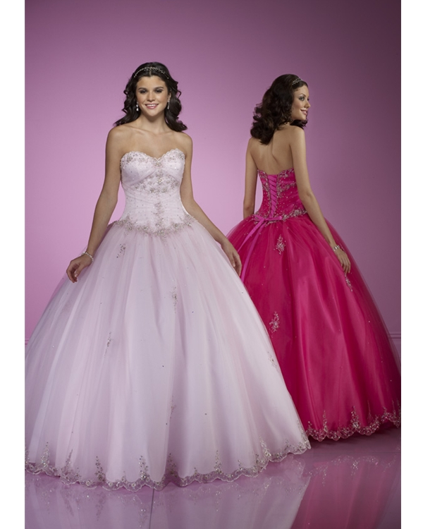 Pearl Pink Ball Gown Strapless Sweetheart Lace Up Floor Length Tulle Quinceanera Dresses With Beading And Ruffles