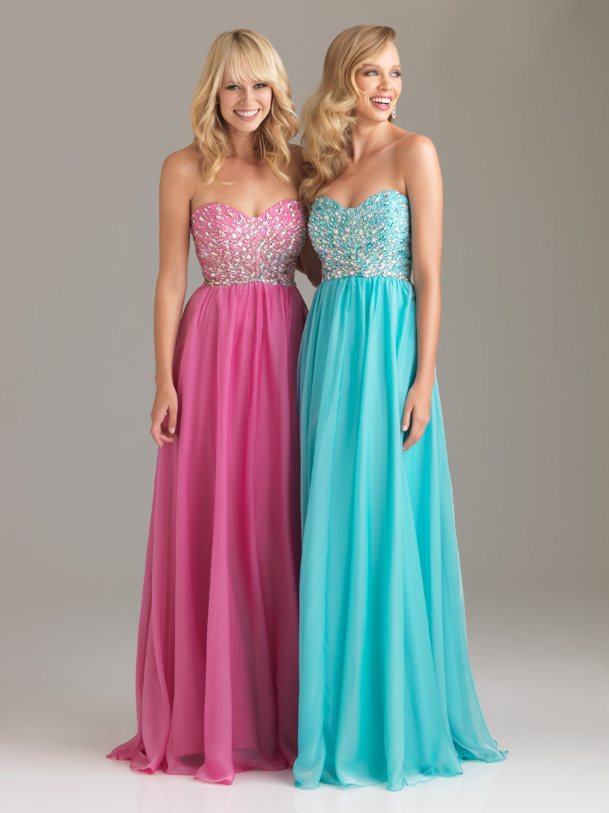 Pink Empire Strapless Sweetheart Floor Length Graduation Dresses With Beading Bodice