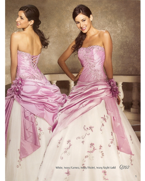 Pink Ball Gown Lace Up Floor Length Strapless Quinceanera Dresses With Beading And Flowers And Twist Drapes