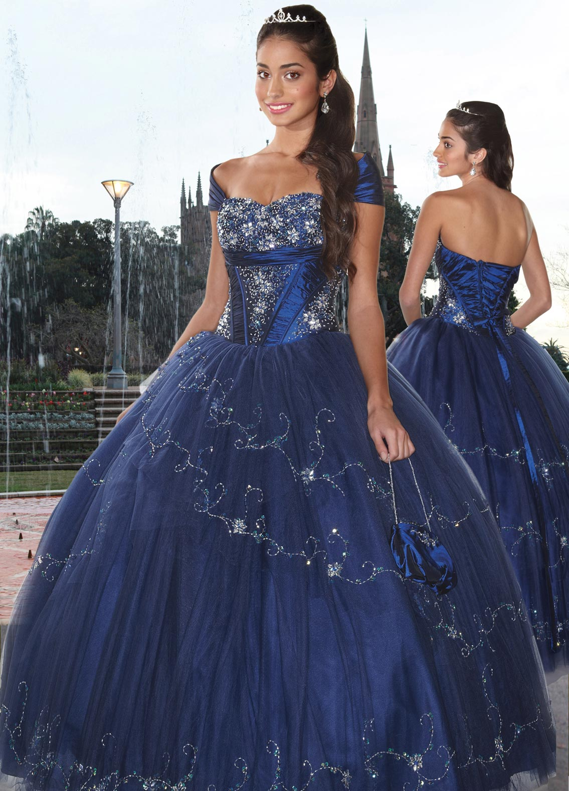 Dark Royal Blue Ball Gown Cap Sleeved And Sweetheart Lace Up Full Length Quinceanera Dresses With Beading Embroidery