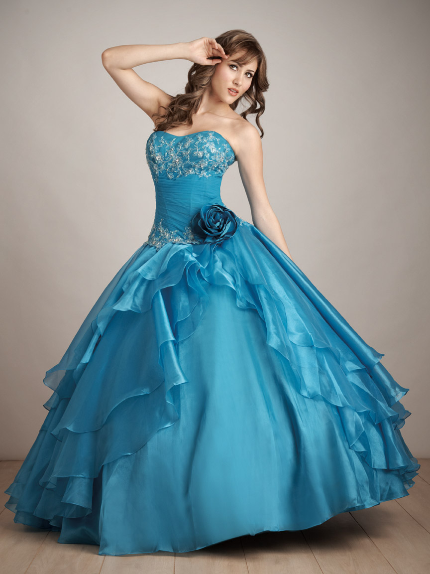 Turquoise Ball Gown Strapless Sweetheart Lace Up Full Length Beaded And Ruffled Quinceanera Dresses