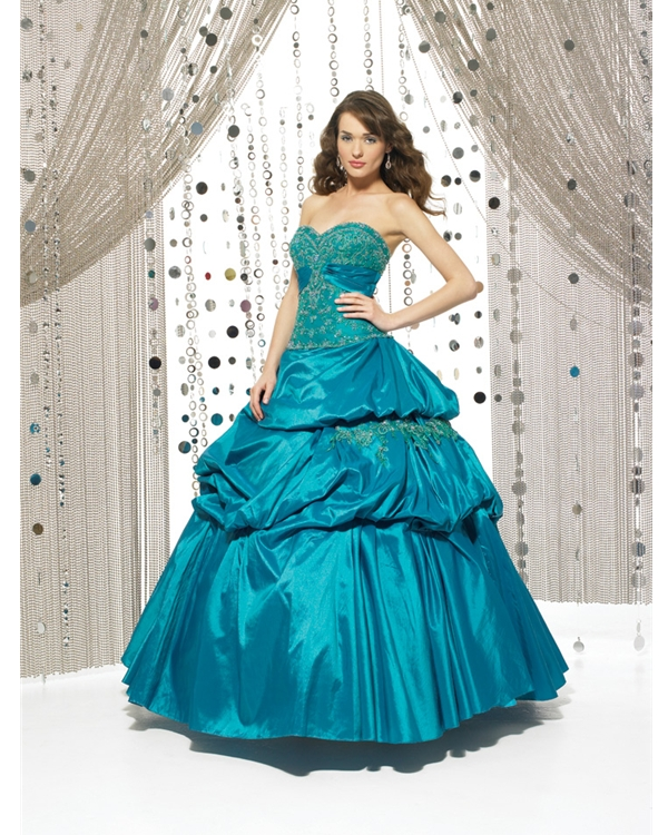 Lake Blue Ball Gown Strapless Sweetheart Lace Up Floor Length Beading Embroidered Quinceanera Dresses With Twist Drapes