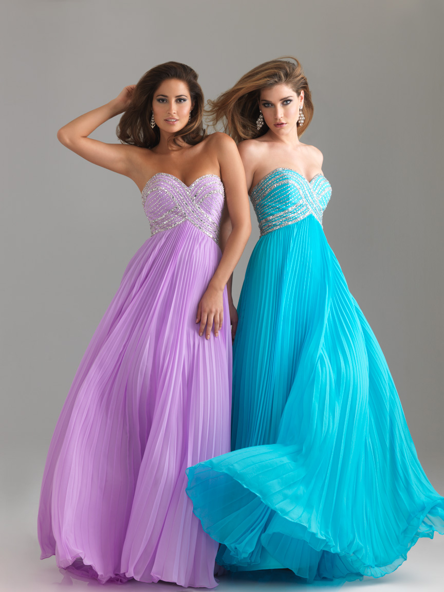 Turquoise Empire Sweetheart Strapless Sweep Train Floor Length Pleated Graduation Dresses With Sequins