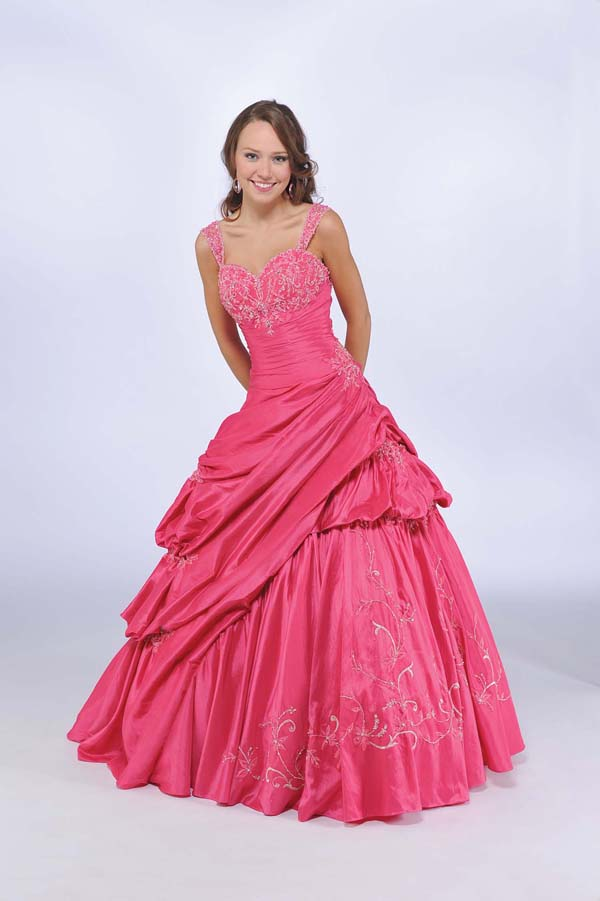 Watermelon Ball Gown Straped Sweetheart Zipper Floor Length Quinceanera Dresses With Beading And Twist Drapes